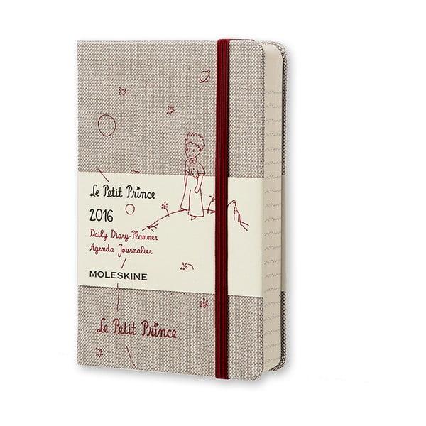 Denní diář Moleskine Le Petit Prince, 9x14 cm