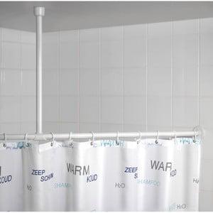 Bílá stropní opěra pro sprchový závěs Wenko