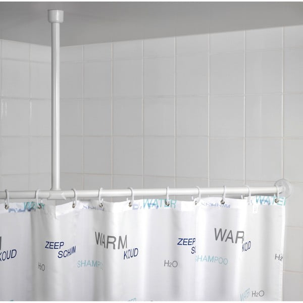 Bílá stropní opěra pro sprchový závěs Wenko, 57 cm