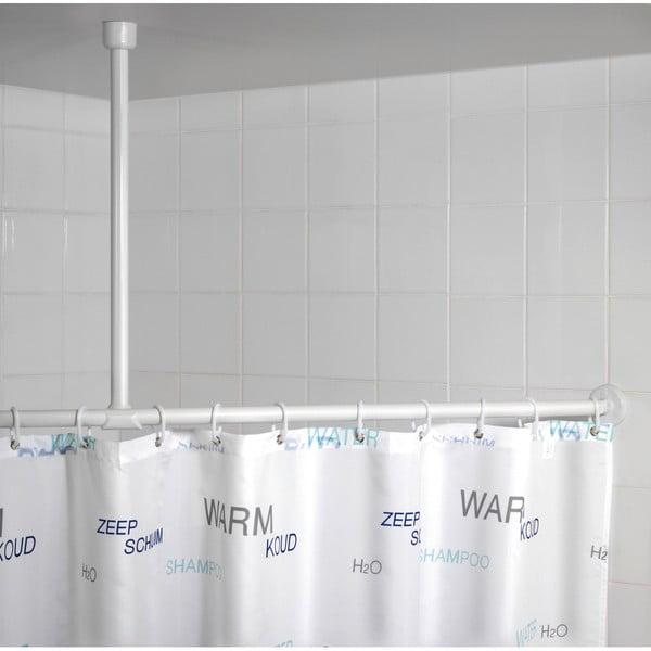 Fehér mennyezeti zuhanyfüggönyrúd, 57 cm - Wenko