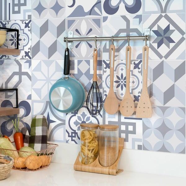 Sada 24 dekoratívnych samolepiek na stenu Ambiance Spa, 10×10 cm