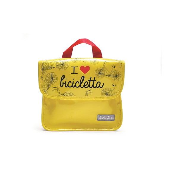 Taška na tablet I ♥ Bicicleta, žlutá