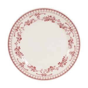 Farfurie desert Comptoir de Famille Faustine, 23 cm, roșu - alb