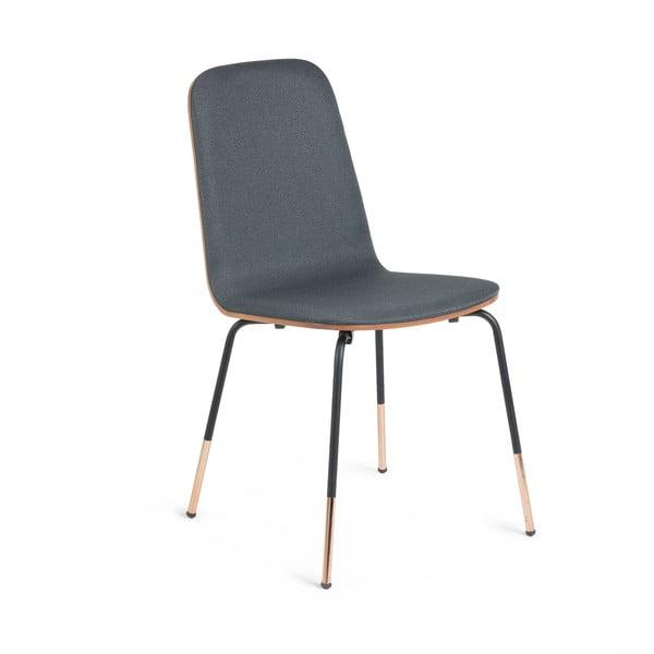 Šedá židle La Forma Chrystel