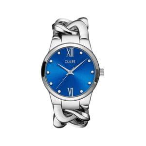 Dámské hodinky Elegante Stones Silver/Blue Lagoon, 38 mm