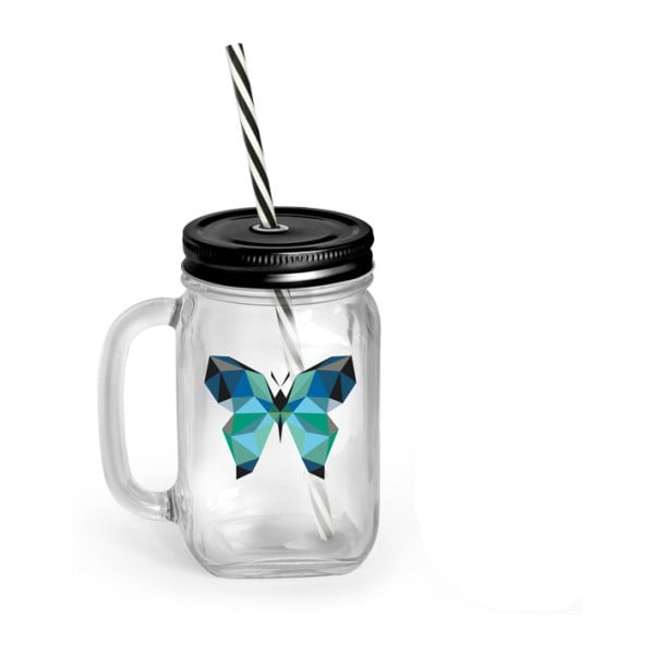 Borcan cu pai și capac Vialli Design Mia Natura Butterfly, 450 ml