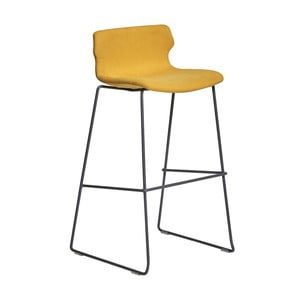 Sada 4 žlutých barových židlí Marckeric Cala