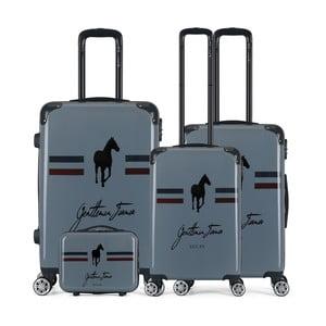 Sada 4 tmavě šedých cestovních kufrů na kolečkách GENTLEMAN FARMER Integre & Vanity Malo