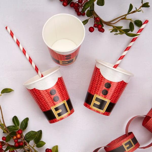 Set 8 pahare din hârtie Neviti Dear Santa