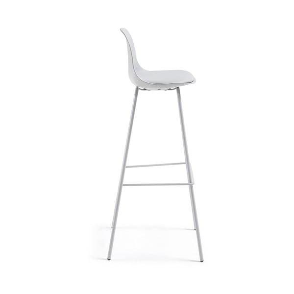 Sada 2 světle šedých barových židlí La Forma Lysna