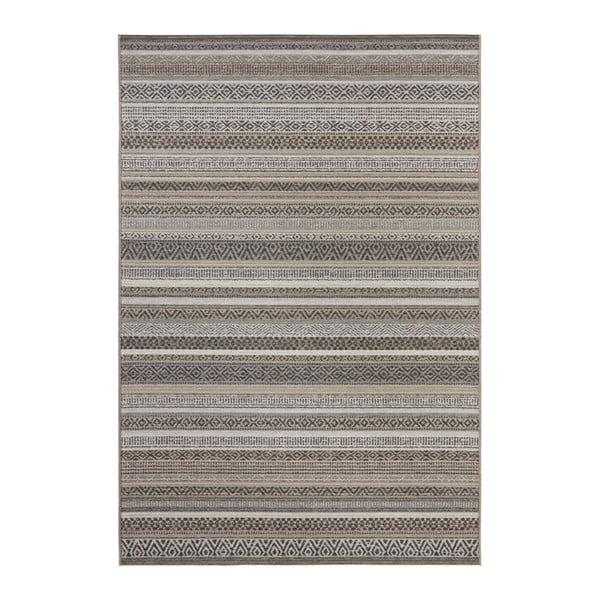 Hnědý koberec vhodný i na ven Elle Decor Bloom Torcy, 80 x 150 cm