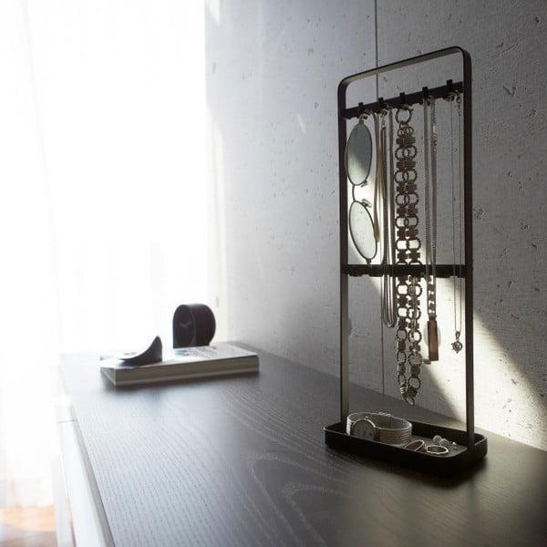 Černý stojánek na šperky Yamazaki Tower
