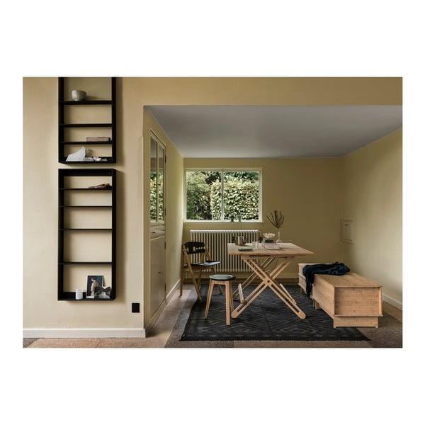 Raft de perete din lemn de bambus Moso We Do Wood, negru
