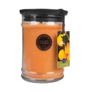 Svíčka ve skleněné dóze s vůní vanilky a pomeranče Creative Tops, doba hoření 140-160 hodin