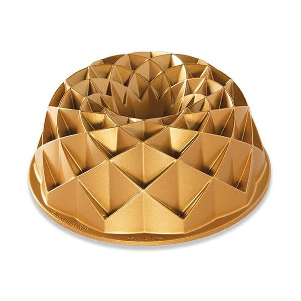 Forma na babkę w złotym kolorze Nordic Ware Jubilee, 2,4l