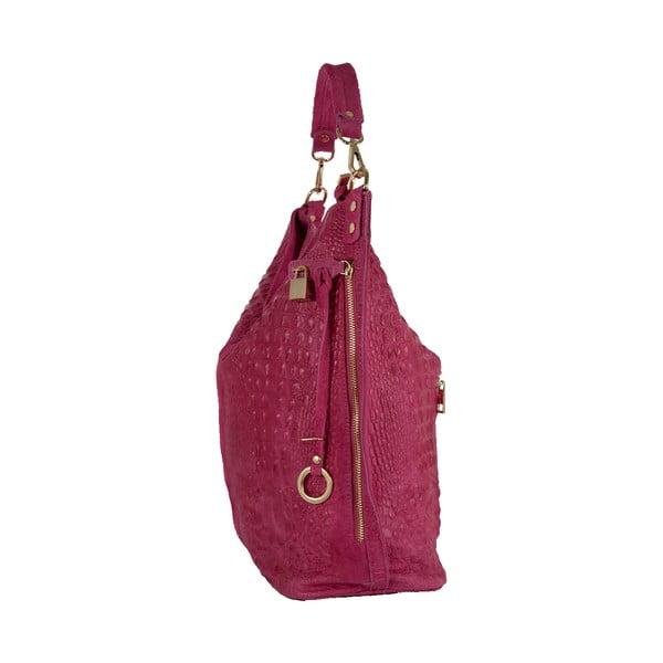 Růžová kabelka z pravé kůže Andrea Cardone Edvige