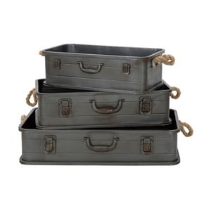 Set 3 cutii metalice pentru depozitare Mauro Ferretti Industry