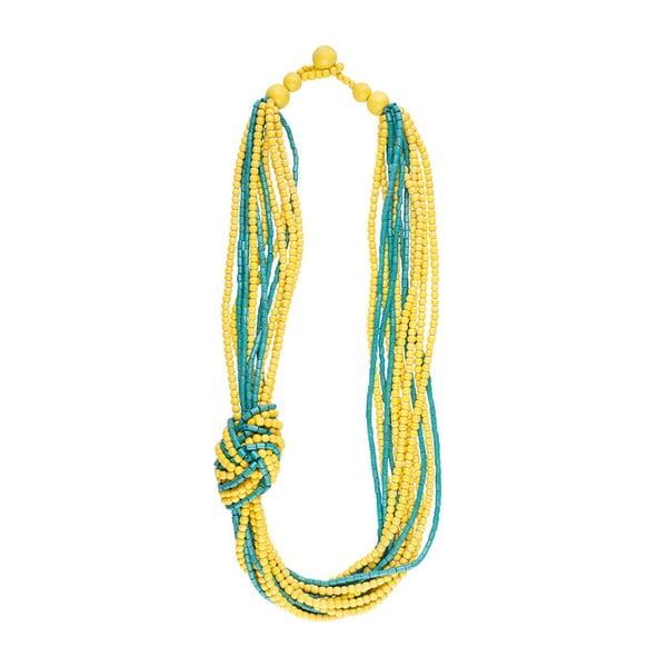 Náhrdelník Exotic, žluto-modrý