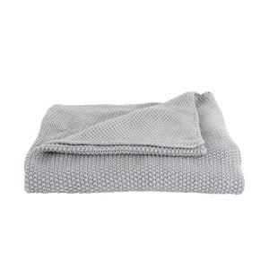 Světle šedý přehoz PT LIVING Snuggle, 130 x 170 cm