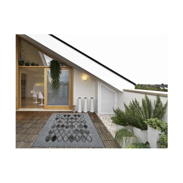 Covor foarte rezistent Floorita Ethnic Grey, 160 x 230 cm