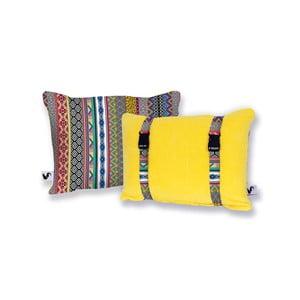 Žlutý oboustranný plážový polštář Origama Inka
