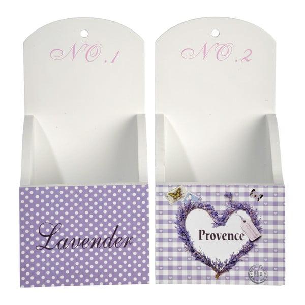Závěsné krabičky Purple Lady, 2 ks