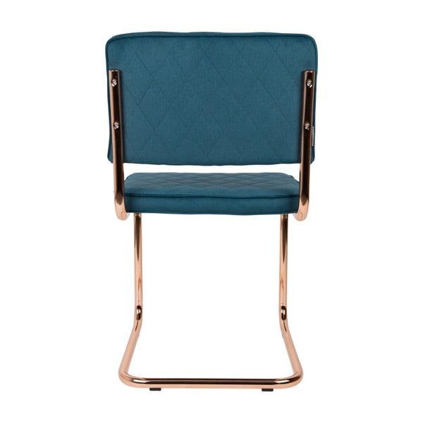 Sada 2 modrých židlí Zuiver Diamond