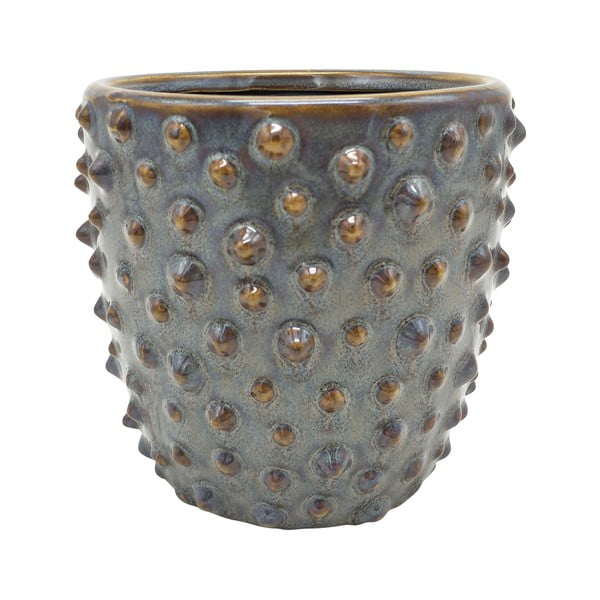 Szara ceramiczna doniczka PT LIVING Spotted, ø 14 cm