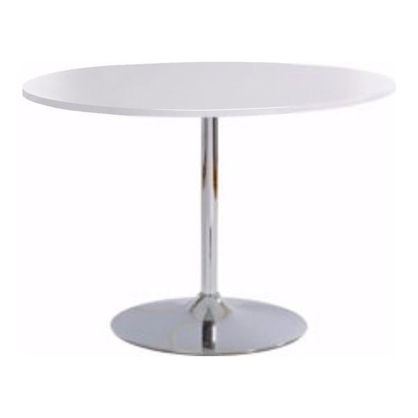 Terri étkezőasztal fényes fehér asztallappal, Ø 110 cm - Støraa