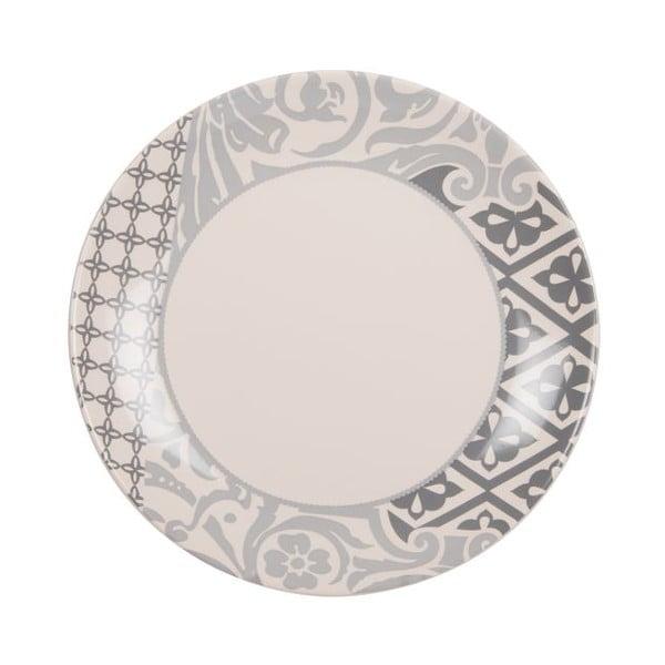 Sada 18 ks keramických talířů Amelie Beige