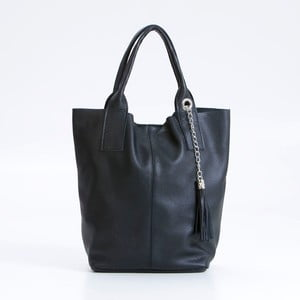 Černá kožená kabelka Pia Sassi Venice