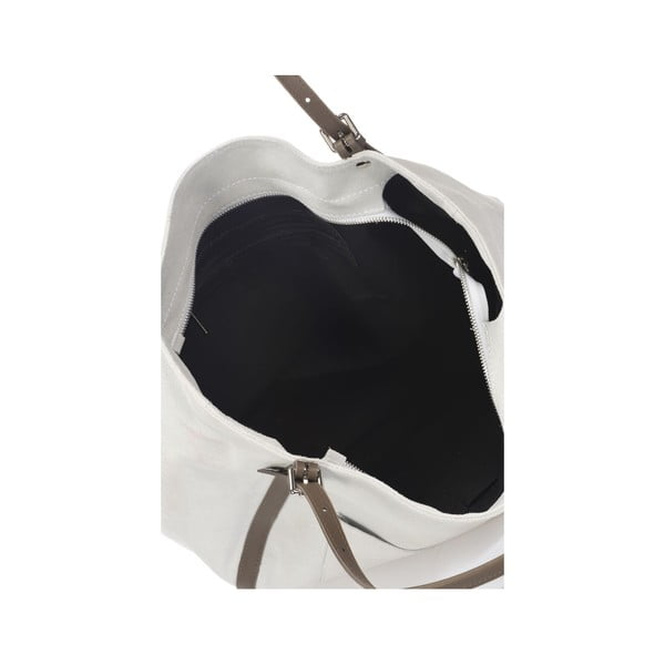 Šedá kožená kabelka Krole Karin