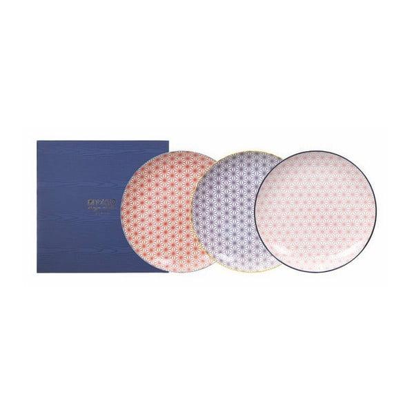 Sada 3 talířů Tokyo Design Studio Star/Wave, ø25,7cm
