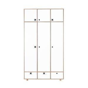 Bílá třídveřová šatní skříň Durbas Style