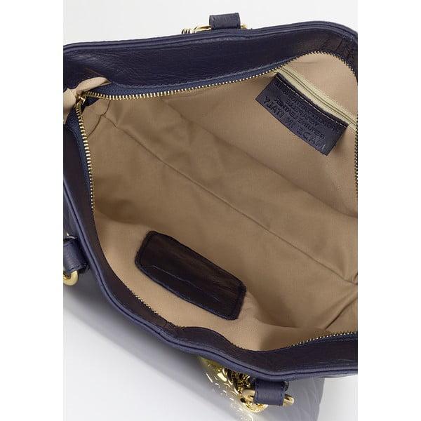 Kožená kabelka Lisa Minardi 6938 Blue