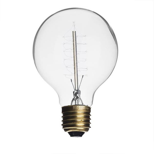 Žárovka Edison Clear G125 / E27 / 40W