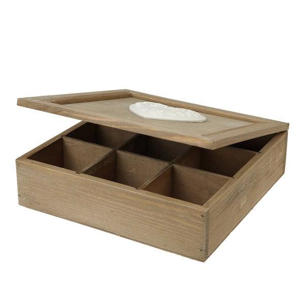 Dřevěná krabička na čaj Srdce