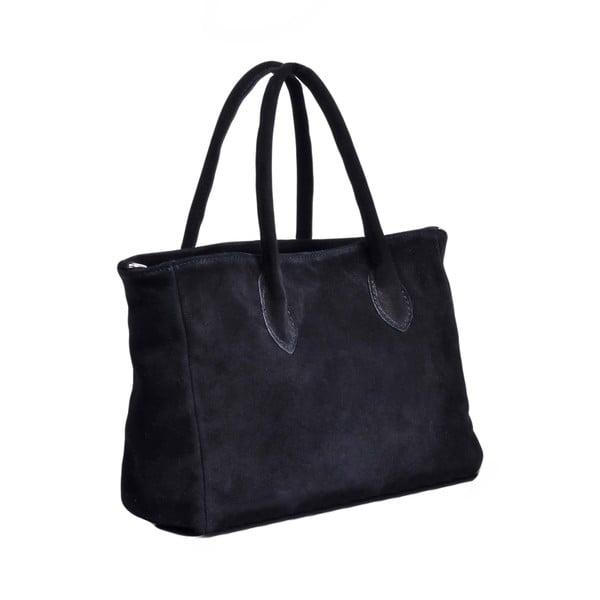 Kožená kabelka Carmina, černá