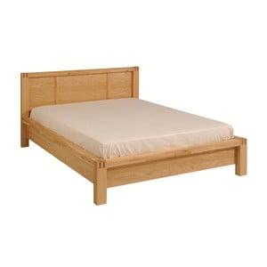 Dvoulůžková postel z dubového dřeva Artemob Ethan, 160x200cm