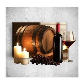 Tablou de perete 3D Mosticx Wine Barrel, 40 x 60 cm imagine