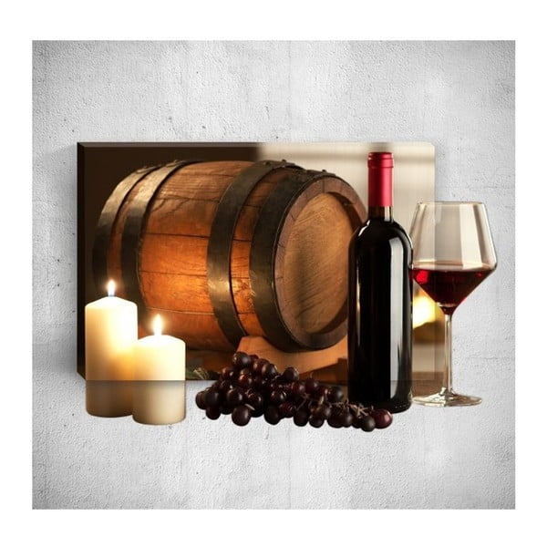 Tablou de perete 3D Mosticx Wine Barrel, 40 x 60 cm