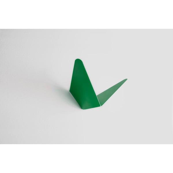 Zelený věšák s úložným prostorem Butterfly Small, 8,9x8,3 cm
