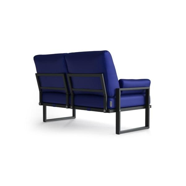 Královsky modrá 2místná zahradní pohovka s područkami Marie Claire Home Angie