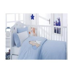 Lenjerie de pat albastră Bobo, 120x150 cm