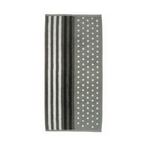 Ručník Ladessa, šedý pruh, 50x100 cm