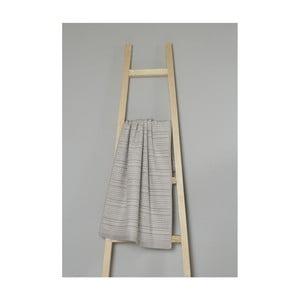 Béžový pruhovaný bavlněný ručník My Home Plus Spa, 50 x 90 cm