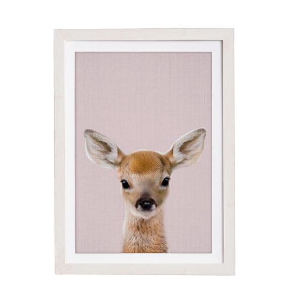 Tablou cu ramă pentru perete Querido Bestiario Baby Deer, 30 x 40 cm