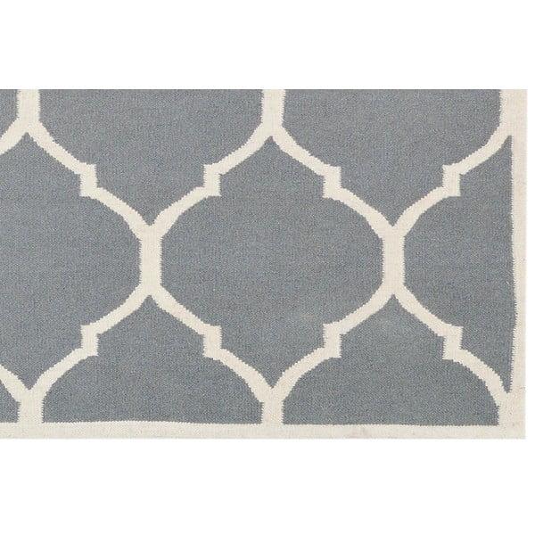 Ručně tkaný koberec Lara Grey, 140x200 cm