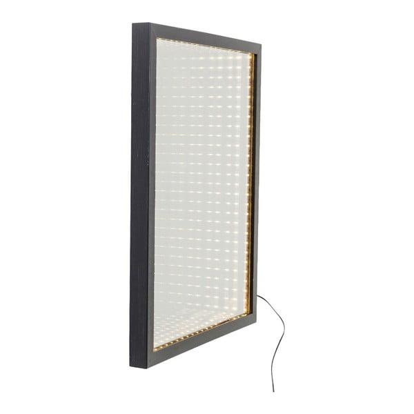 Nástěnné zrcadlo s rámem s LED světly Kare Design Frame, 48x38cm
