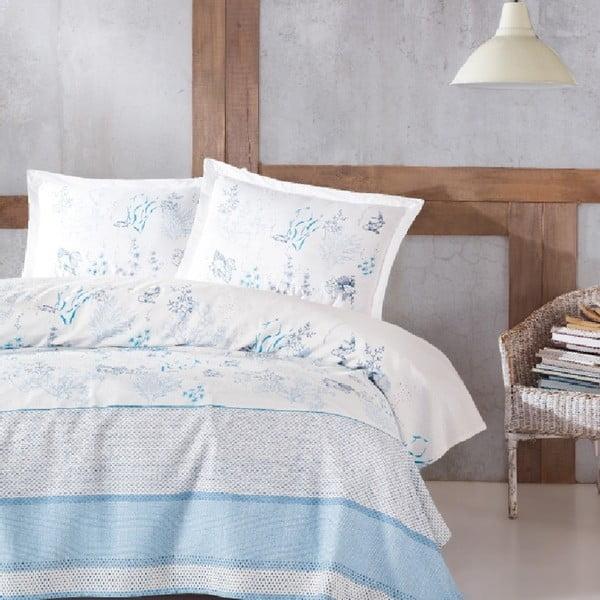 Prikrývka cez posteľ na dvojlôžko s obliečkami na vankúše a plachtou Marion, 220×240 cm